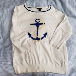 Tommy Hilfiger navy anchor sweater